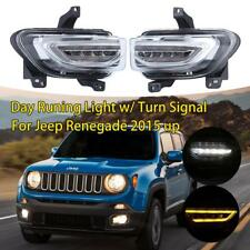 Switchback LED Day Running DRL w/ Turn Signal Lights For Jeep Renegade 2015 up