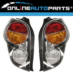 Tail Lights Pair LH+RH Red/Amber for Holden Barina Spark MJ 2010~12 CD/CDX NEW
