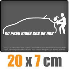 No free rides - gas or ass 20 x 7 cm JDM Decal Sticker Aufkleber Racing Die Cut