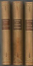 Flaubert, Salambô, Madame Bovary, Trois contes, 3 volumes agréablement reliés