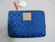 NWT COACH Weekend Blue Cobalt Nylon e-Reader Sleeve/Case/Bag *FREE SHIP*