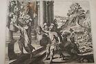 GRAVURE SUR CUIVRE TETE DE SAUL PHILISTINS-BIBLE 1670 LEMAISTRE DE SACY (B92)