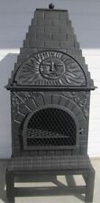 XL Cast Iron Pizza Oven/Chiminea/Patio Heater/BBQ / free collection