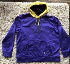 Vintage And1 Mens Basketball Purple Yellow Sweatshirt Hoodie Size XL