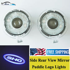 LED Side SHO Logo Light Rear View Mirror Puddle Fit for Ford Taurus SHO 2010-18