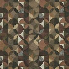 Designer Fabrics F514 54 in. Wide Grey Green And Brown Geometric Chenille Uph...