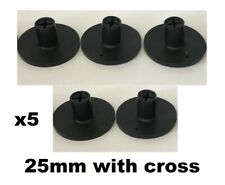 Set of 5 JL Golf Rubber golf driving range tees. 25mm with cross