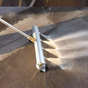 Unterwagen Reiniger Waschmaschine Wasserbesen für Gehweg Edelstahl