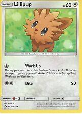 POKEMON SUN & MOON CARD: LILLIPUP - 103/149