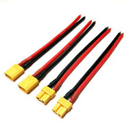 2 Paar 4 Stück XT30 Stecker Male Female inkl. 16AWG 10cm Kabel Lipo Akku Buchse
