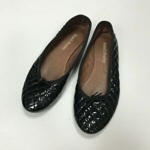 RUSSELL & BROMLEY - Patent Quilted Black Pumps - UK 4 / EU 37