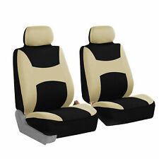 Front 2 Bucket Universal Car Seat Covers Beige for Auto