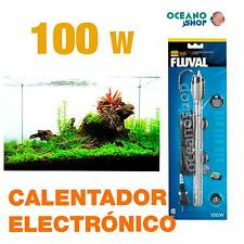 Calentador electronico sumergible Fluval m Termocalentador de acuario 100W