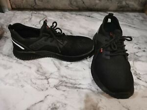 Steel Toe Capped Black Safety Trainers - Size 5