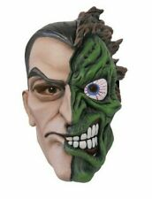 Batman Two Face Deluxe Overhead Latex Costume Mask Adult One Size
