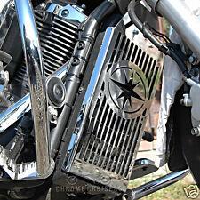 YAMAHA XVS1300 XVS 1300 MIDNIGHT STAR CHROME RADIATOR COVER GUARD GRILL PANEL