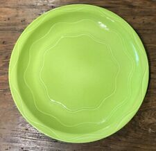 """SYRACUSE CANTINA SAGE? LIME GREEN 11-1/4"""" CHOP PLATE / ROUND PLATTER EUC"""