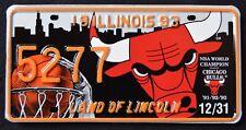 "ILLINOIS "" CHICAGO BULLS NBA BASKETBALL  Micheal Jordan Specialty License Plate"