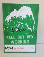 FALL OUT BOY 2018 TOUR BACKSTAGE PASS Authentic Local Working Crew New Unpeeled