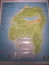 Grand Theft Auto V GTA 5 MAP LOS SANTOS  BLAINE COUNTY XBOX ONE 360 PS4 PC Wii