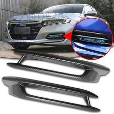 For Honda Accord 2018-2020 ABS Carbon Fiber Car Front Fog Lamp Light Cover Trim