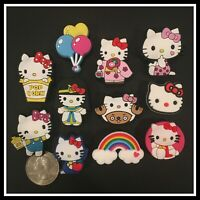 SET of 11 Shoe Charms for Crocs HELLO KITTY Anime Costumes Balloons Rainbow