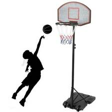 Pro 8ft Basketball Hoop Adjustable Height Portable Backboard System Junior Kid