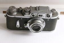 Très rare ZORKI 2 ( a/retardateur) + objectif Industar 22, f:3,5/50 mm.