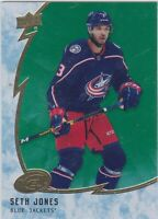 19/20 ICE...SETH JONES...GREEN PARALLEL...CARD # 21...BLUE JACKETS