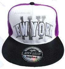 Adults Mens Ladies New York Baseball Cap NY State Panel Snapback Hip Hop Hat