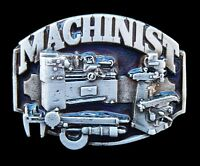 MACHINIST METAL WORKER TRADES SOLID PEWTER BELT BUCKLE BUCKLES