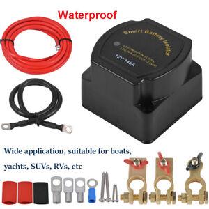 12V 140 Amp Smart Dual Battery Isolator Voltage Sensitive Relay Kit