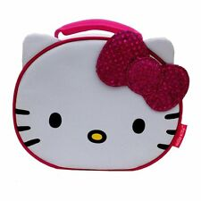 HELLO KITTY SANRIO w/Pink Sparkly Bow Lead-Free Insulated Lunch Tote Box NWT $20