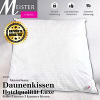 Daunenkissen Kopfkissen 3-kammer Fachgeschäfts-hotelQualität! luxe 80 x 80 cm.