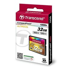 NEW   Transcend Information 32GB Compact flash Card - TS32GCF1000 160/120 MB/S