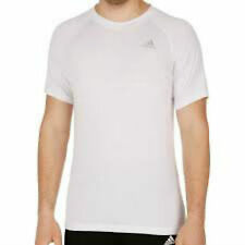 "adidas Mens ""Prime"" Climalite cotton feel technical t shirt white S,M, L or XL"