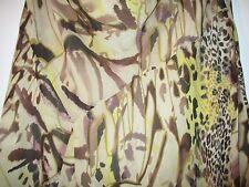 "Pure Silk Vintage Viyella Petite Animal Print skirt  s10, ""Caramel colours"""