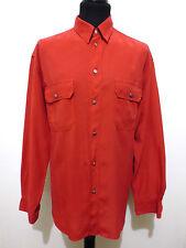 TRUSSARDI Camicia Uomo Lino Rayon Flax Man Shirt Sz.XL - 52