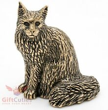 Bronze Figurine of Maine Coon cat