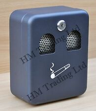 Outdoor Wall Mounted Metal Coated Ashtray Cigarette Ash Tray Bin With Lock Pub