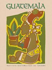 Guatemala Central Latin America American Vintage Travel Advertisement Poster 1