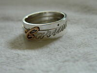 Clogau Silver & Welsh Gold Cariad Ring RRP £169.00 size P