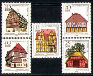 Germany 1978 Town Hall/Farmhouse/Houses/Architecture/Buildings 5v set (n28321)