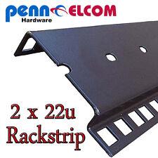 22u Double Rackstrip,data strip,servers rack strip flightcase