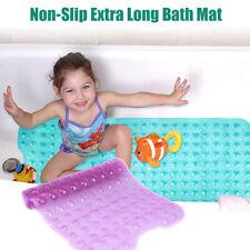 Non-Slip Extra Long Bath Shower Mat Suction Grip 30% Longer
