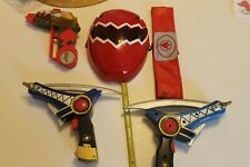 Power Rangers Dino Thunder Face Mask hard 3 guns 1 Rare belt costume Megazord