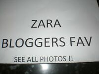Zara ~ Bloggers Favourite Green Studded Coat With High Collar ~  M ~ Sold Out