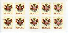 Monaco 2009 Booklet - Coat of Arms - 10 Stamps - MNH - Scott 2540a Pane of 10