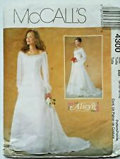 McCalls Sewing Pattern 4300 Wedding Dress Bridal Gown Alicyn Boho Size 8 - 10