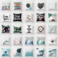ITS- Boho Geometric Polyester Pillow Case Waist Cushion Cover Sofa Home Decor No
